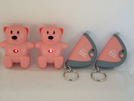 Picture of CL-103 pink bears with LED lights flashing