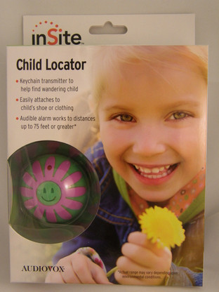 InSite Flower Style Child tracker locator in packaging