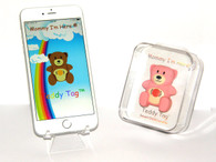 Teddy Tag Bluetooth Child locator tracker in pink color