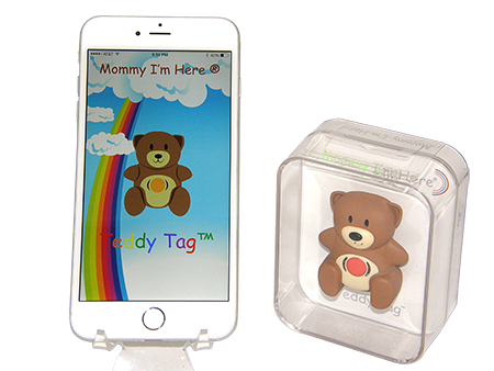 Teddy Tag Bluetooth child locator tracker brown color