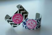 Monogrammed Cuff Bracelet  www.tinytulip.com