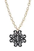 Acrylic Filigree Cross Monogram Necklace  www.tinytulip.com