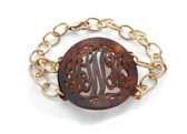 Monogrammed  Acrylic Isobel Bracelet  www.tinytulip.com