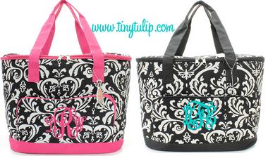 Monogrammed Damask Large Cooler Bag  www.tinytulip.com