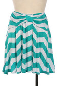 Aqua Chevron Bow Skirt www.tinytulip.com Front