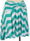 Aqua Chevron Bow Skirt www.tinytulip.com Side