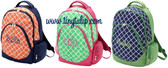 Monogrammed Preppy Tile Pattern Academy Backpack  www.tinytulip.com