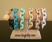 Enamel Chain Link Fashion Bracelet  www.tinytulip.com