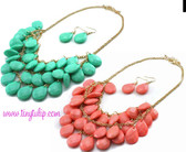 Tear Drop Necklace Set Free Shipping