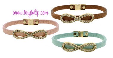 Infinity Faux Leather Bracelet Free Shipping www.tinytulip.com