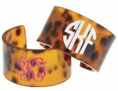 Monogrammed Tortoise Cuff Bracelet Free Shipping www.tinytulip.com