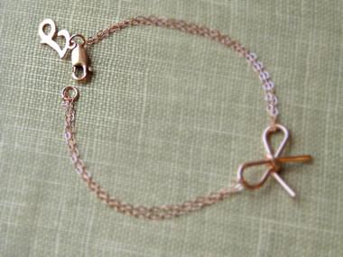 Sterling Silver or Gold Filled Bow Bracelet www.tinytulip.com