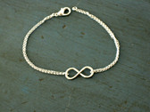 Sterling Silver or Gold Filled Infinity Bracelet www.tinytulip.com
