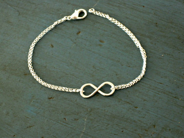 Sterling Silver or Gold Filled Infinity Bracelet www.tinytulip.com