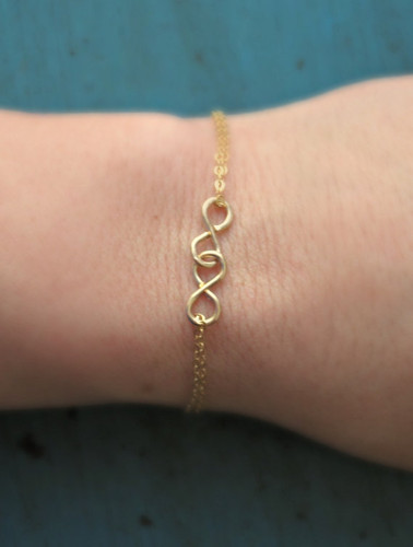 Sterling Silver or Gold Filled Double Infinity Bracelet www.tinytulip.com