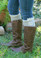 Monogrammed Crochet Lace Boot Socks Leg Warmers www.tinytulip.com Taupe with Cream Interlocking Monogram