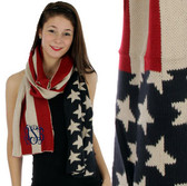 Red White & Blue Preppy American Flag Scarf www.tinytulip.com