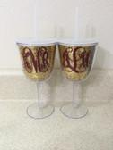 Glitter Acrylic Wine Glass Tumblers www.tinytulip.com
