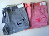Monogrammed Striped Shorts www.tinytulip.com