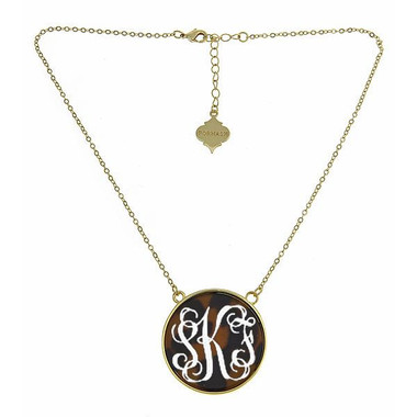 Monogrammed Tortoise Necklace www.tinytulip.com