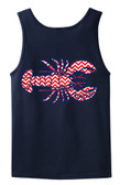 Monogrammed Tiny Tulip Preppy Chevron Lobster Bro Tank