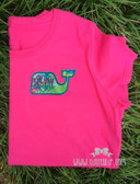 Monogrammed Lilly Pulitzer Whale Applique T-shirt