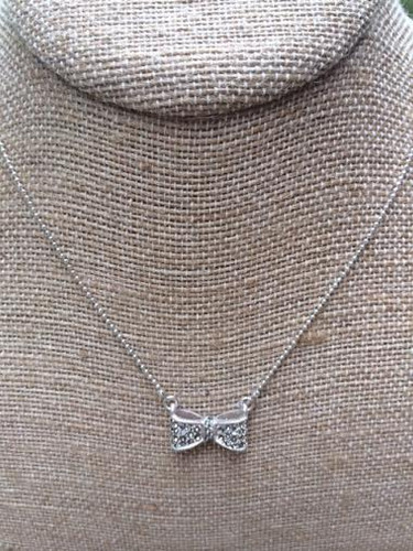 Pave Bow Necklace www.tinytulip.com