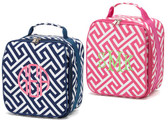Monogrammed Greek Key Lunch Bag
