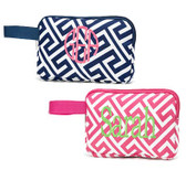 Monogrammed Greek Key Pencil Accessory Bag www.tinytulip.com
