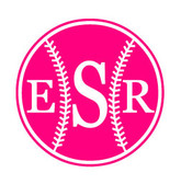 Monogrammed Baseball Vinyl Decal