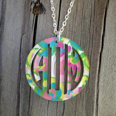 Mary Beth Goodwin Bordered Monogram Pendant Necklace www.tinytulip.com