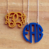 Floating Acrylic Monogram Necklace www.tinytulip.com