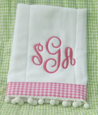 Monogrammed Burp Cloth