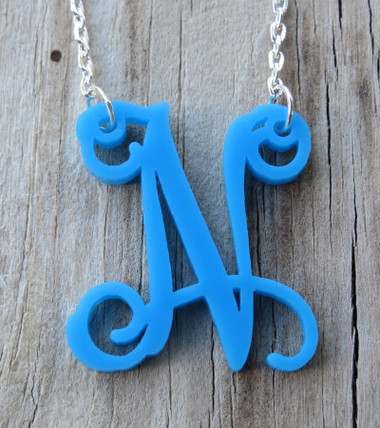 Floating Single Letter Necklace www.tinytulip.com