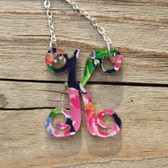 Floating Single Letter Pattern Necklace  www.tinytulip.com