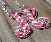 Chevron Floating Single Letter Necklace www.tinytulip.com