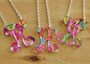 Mary Beth Goodwin Floating Single Letter Necklace www.tinytulip.com