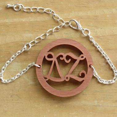 Greek Letters Bordered Bracelet www.tinytulip.com