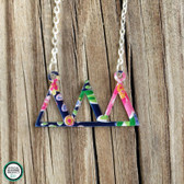 Greek Letters Pattern Floating Necklace www.tinytulip.com