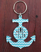 Chevron Layered Anchor Keychain www.tinytulip.com
