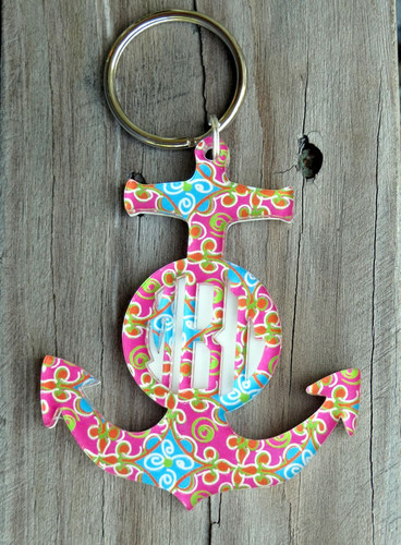 Mary Beth Goodwin Layered Anchor Keychain www.tinytulip.com