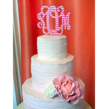 Chevron Monogram Cake Topper www.tinytulip.com