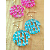 Chevron Monogram Acrylic Earrings www.tinytulip.com