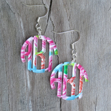 Mary Beth Goodwin Monogram Acrylic Earrings www.tinytulip.com