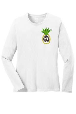 Monogrammed Pineapple Shirt www.tinytulip.com