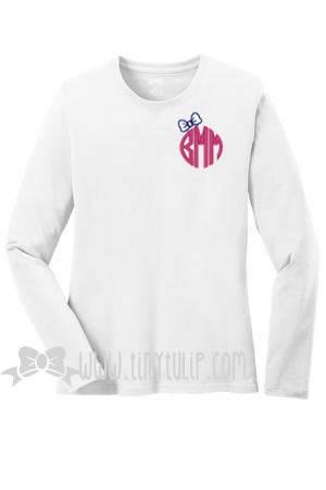 Monogrammed Preppy Bow Shirt www.tinytulip.com