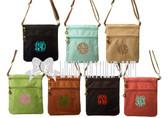 Monogrammed Longchamp Style Messenger Bags www.tinytulip.com