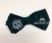 Monogrammed Plaid Bow www.tinytulip.com