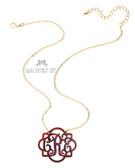 Fancy Acrylic Monogram Necklace www.tinytulip.com Tortoise Shell