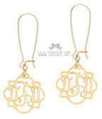 Fancy Acrylic Monogram Earrings www.tinytulip.com Gold Mirror